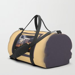 Sunset with Picnic Table Duffle Bag