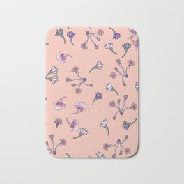 Tiny pastel flowers Bath Mat