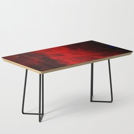 Red Abstract Paint Coffee Table