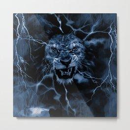 LIGHTNING GOD Metal Print