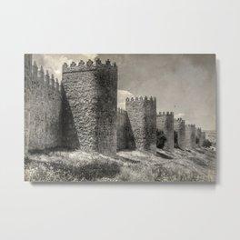 Avila town wall Metal Print