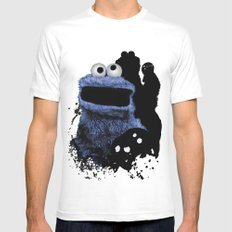 Monster Madness: Cookie Monster Mens Fitted Tee White MEDIUM