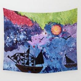 Stormy Sea Wall Tapestry