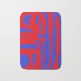 Abstract in Blue and Red I Bath Mat