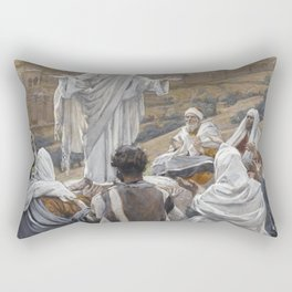 James Tissot - The Lord's Prayer Rectangular Pillow