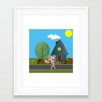 chibi Framed Art Prints featuring Chibi Girl by ChibiGirl