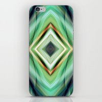 green pattern iPhone & iPod Skins featuring Pattern green  by Christine baessler