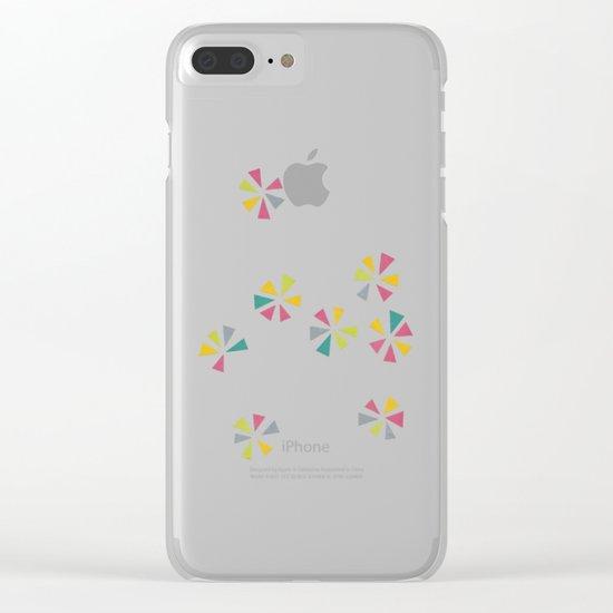 Colour Wheels Clear iPhone Case