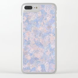 Rose Quartz and Serenity Blue 4644 Clear iPhone Case