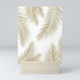 Palm Leaves - Gold Cali Vibes #3 #tropical #decor #art #society6 Mini Art Print