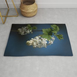 Understated Luminary      White Flowering Currant Bloom Rug