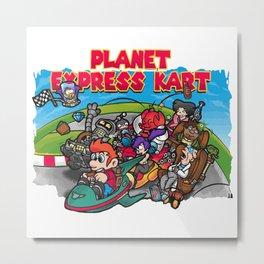 Planet Express Kart Metal Print