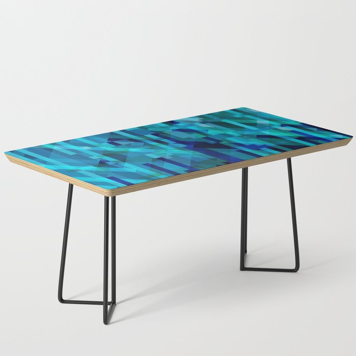 abstract composition in blues Coffee Table