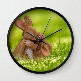 Easter Bonny | Lapin de Pâques Wall Clock
