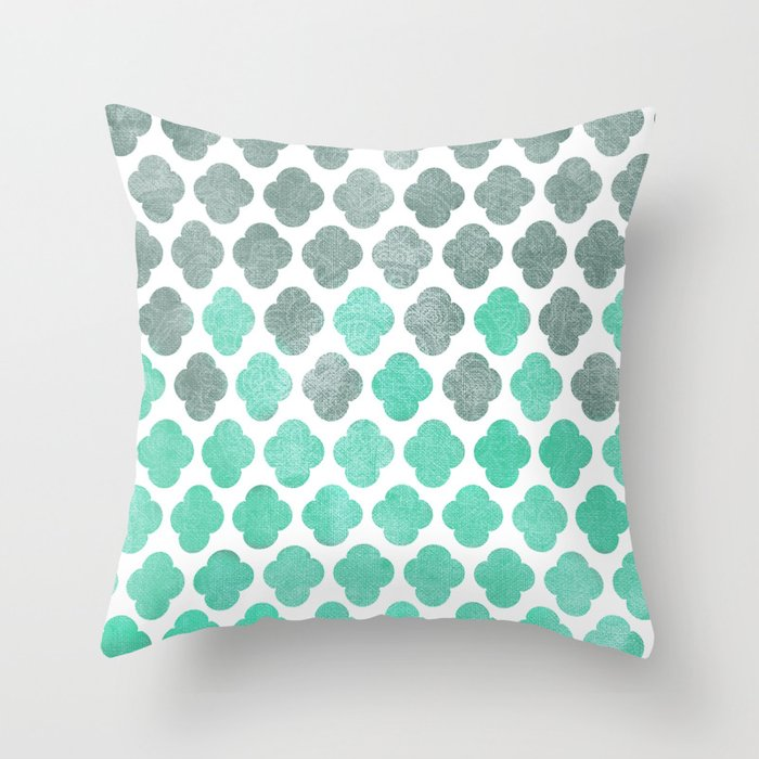 Sailing Under a Grey Sky - Moroccan Pattern Throw Pillow