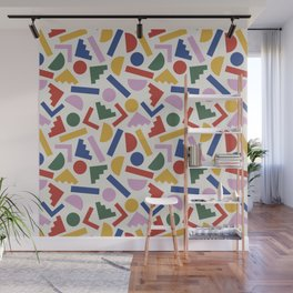 Colorful Geometric Shapes Wall Mural