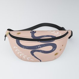 Mid Century Magic Mystical Snake Symbol Pink Pastel Hues Contemporary Cool Trendy Style Fanny Pack