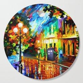Tardis Art And The Light Street Cutting Board