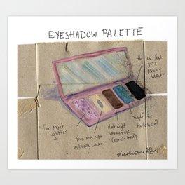 Diagram of an Eyeshadow Palette Art Print