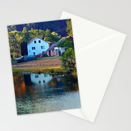 A summer evening along the river II | waterscape photography Stationery Cards