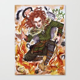 God of Lies and Fire Canvas Print
