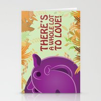 hippo Stationery Cards featuring Hippo by Jada McGill