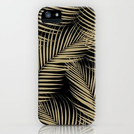 Palm Leaves - Gold Cali Vibes #2 #tropical #decor #art #society6 iPhone Case