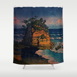 Bathing in Sunset Shower Curtain