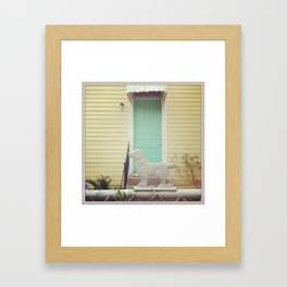 Bywater Guard Dog, New Orleans Framed Art Print