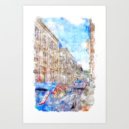 Street of Fort-de-France Art Print