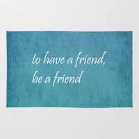 friendship Area & Throw Rugs featuring Friendship by Lyle Hatch