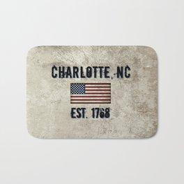 Tribute to Charlotte, NC, EST. 1768 Bath Mat