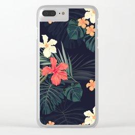 Dark tropical Clear iPhone Case