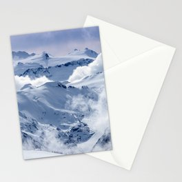 Snowy Mountains and Glaciers Stationery Cards