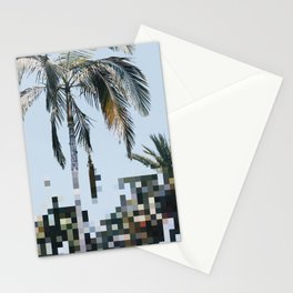Pixel Palm Stationery Cards