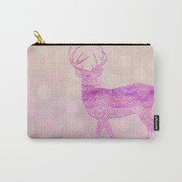 Dreamy Fairy Tale Pink Deer Bokeh Light Carry-All Pouch