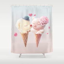 Ice Cream Love Shower Curtain