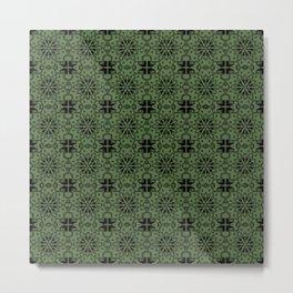 Kale Star Geometric Metal Print
