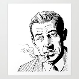 Benny Inked - Inks Only Art Print