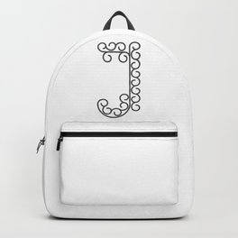 "Letter ""J"" in beautiful design Fashion Modern Style Backpack"