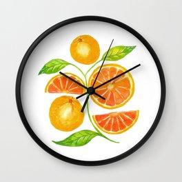Juicy Grapefruits Wall Clock