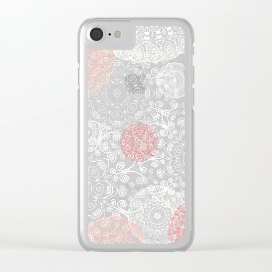 HAPPY GO LUCKY - BOHO WOOD Clear iPhone Case