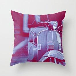 scooter violet tonton AL Throw Pillow