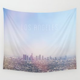 Los Angeles Skyline Typography  Wall Tapestry