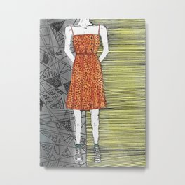 The girl in the dress. Metal Print