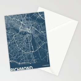 Richmond Blueprint Street Map, Richmond Colour Map Prints Stationery Cards