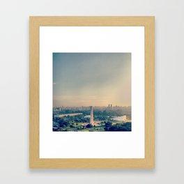 São Paulo skyline / Obelisco Framed Art Print