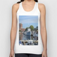 oslo Tank Tops featuring Minesweeper Alta In Oslo by Malcolm Snook
