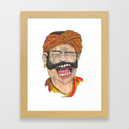 The Man from Gujarat Framed Art Print
