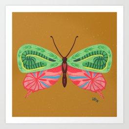 Snake Mariposa Art Print